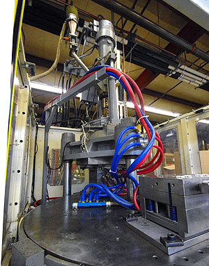 Space-saving Vertical Injection Machines are available at Denver Plastics.